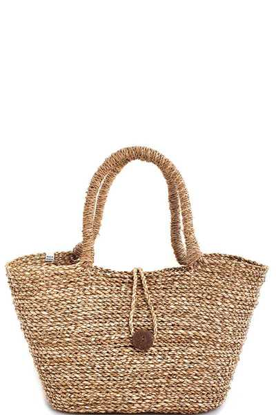 3IN1 DESIGNER CUTE NATURAL FIBER WOVEN SHOPPER SET
