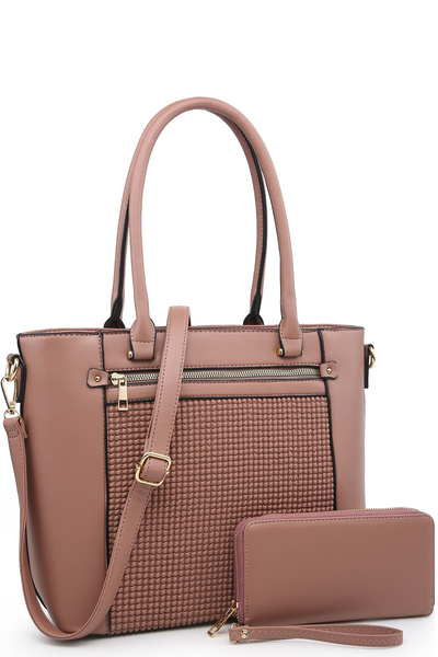 Fashion Embossed 2-in-1 Shopper