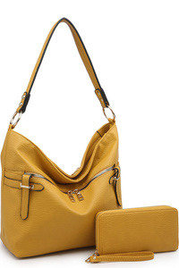 Fashion Front Zipper 2-in-1 Bucket Shoulder Bag