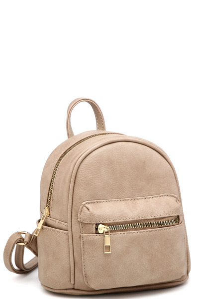 Classic Multi Pocket Fashion Mini Backpack