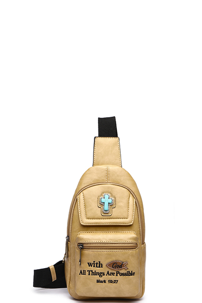 Bible Verse Sling Backpack
