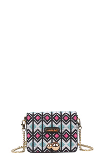 NICOLE LEE YUKI NEON BEADED CLUTCH