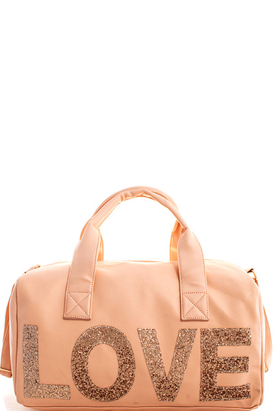 Over Size Fashion Love Travel Bag