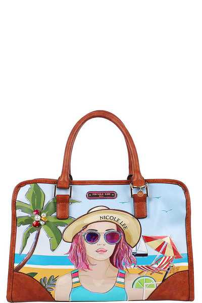 Nicole Lee BEACH DAY BRIEFCASE