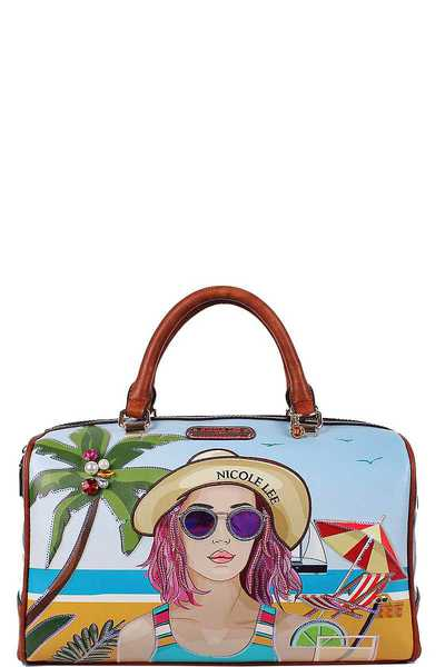 Nicole Lee BEACH DAY BOSTON BAG