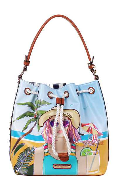 Nicole Lee BEACH DAY BUCKET BAG