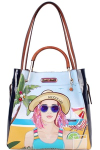 Nicole Lee BEACH DAY SATCHEL BAG