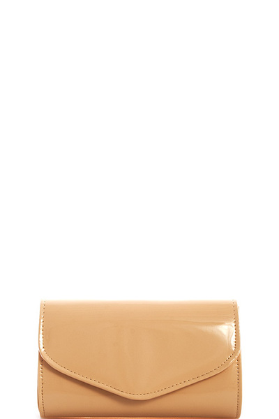 Hot Trendy Glossy Clutch with Chain