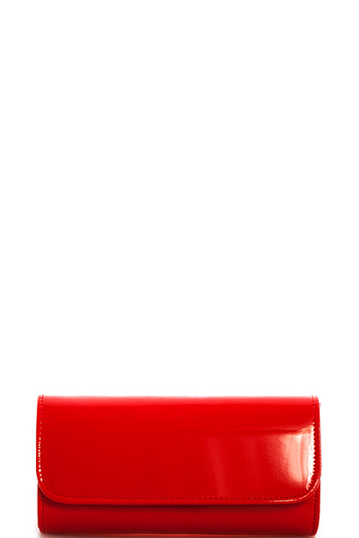 Designer Fashion Glossy Clutch with Chain
