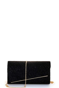 FASHION SILKY CHIC EVENING PARTY CLUTCH WITH CHAIN