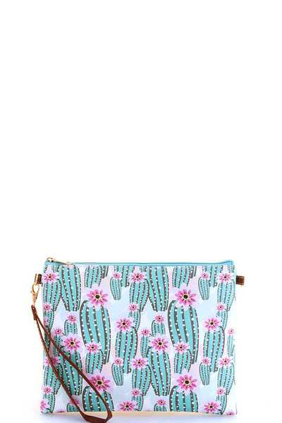 MODERN CHIC CACTUS POUCH WITH TWO STRAP