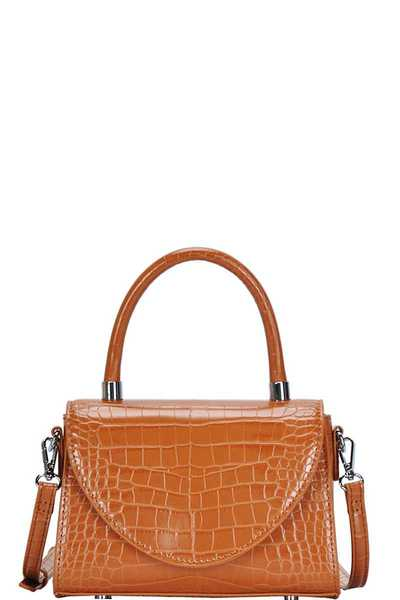 DESIGNER CROCO PATTERN CROSSBODY SHOULDER BAG