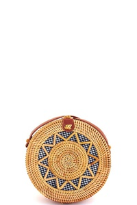 Stylish Natural Woven Circle Bag