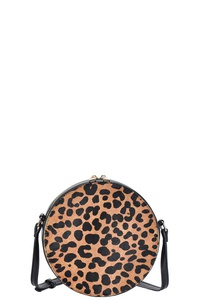 FASHION LEOPARD CIRCLE CROSSBODY BAG