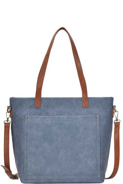 CHIC MODERN TOTE BAG WITH LONG STRAP