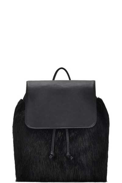 TRENDY FUR STYLISH DRAWSTRING BACKPACK