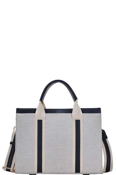 CUTE MODERN TWO TONE COLOR SATCHEL WITH LONG STRAP