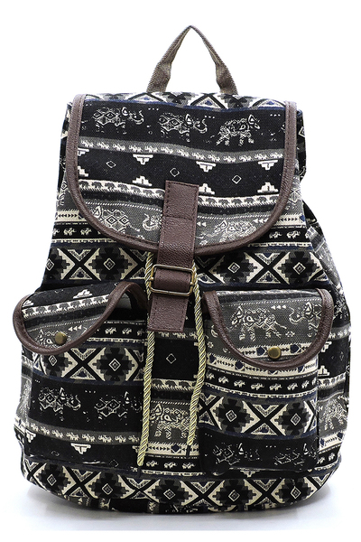 Fashion Printed Canvas Backpack
