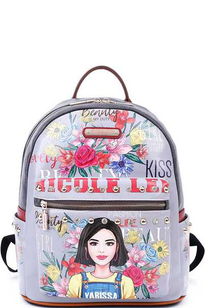 NICOLE LEE BACKPACK WITH LAPTOP COMPARTMENT