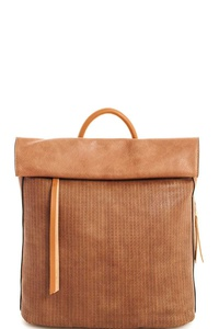 Designer Chic Roll Over Flap Backpack