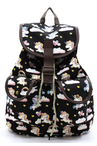 UNICORN Printed Canvas Backpack