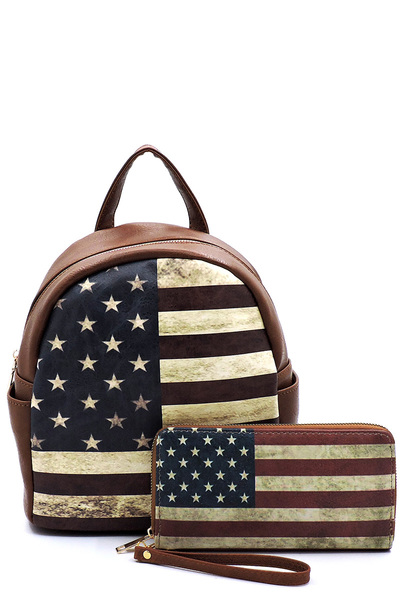 US Flag 2-in-1 Backpack