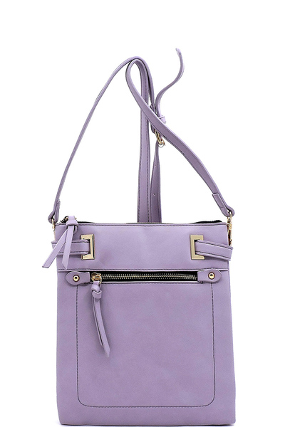 Fashion Front Zip Pocket Crossbody Bag