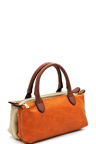 Fashion Colorblock Satchel