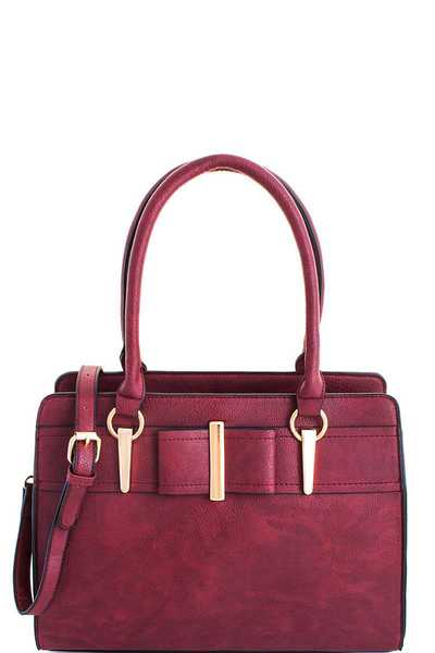2in1 Modern Stylish Satchel Set with Long Strap