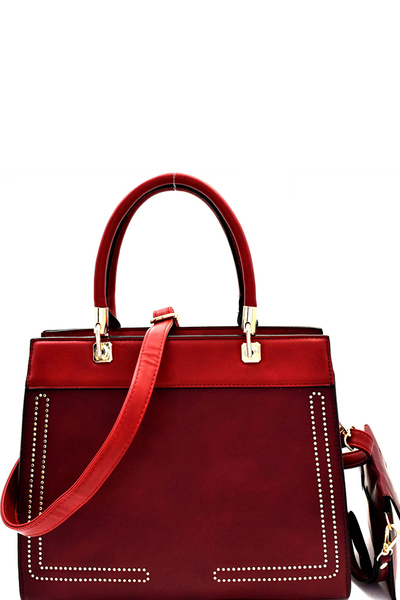Stitch Accent 2 in 1 Structured Satchel