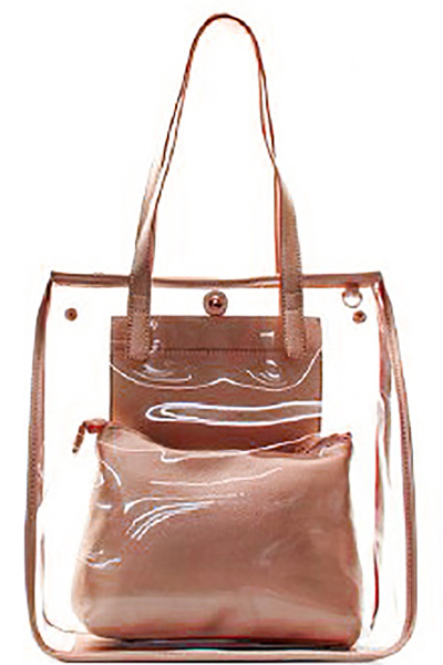 Fashion 2 in 1 Clear Handbag