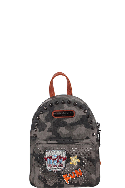 NICOLE LEE AQUANNA PRINT MINI BACKPACK
