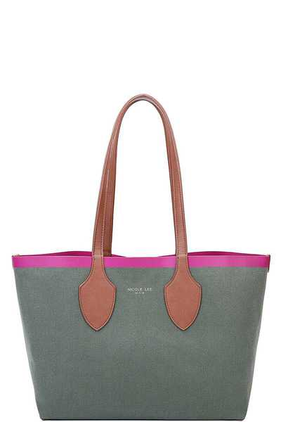 Nicole Lee REVERSIBLE MEDIUM TOTE BAG