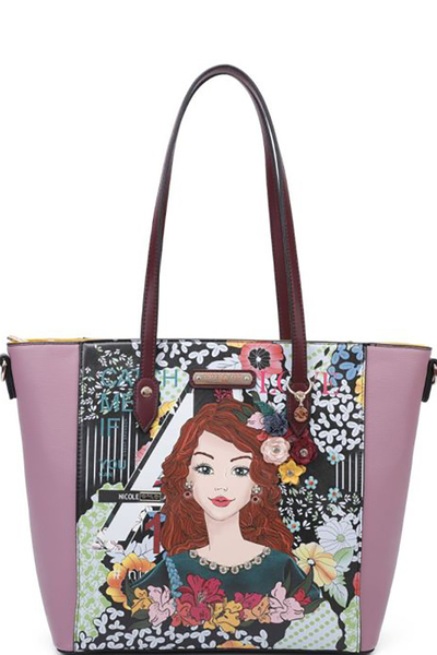 NICOLE LEE FLORAL PRINTED SHOPPER BAG