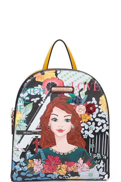 NICOLE LEE FLORAL PRINTED BACKPACK