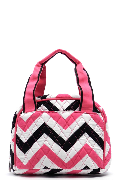 Quilted Chevron Print Lunch Bag