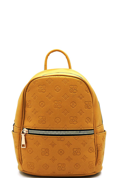 Embossed Monogram Backpack