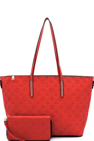 Embossed Monogram 2-in-1 Shopper