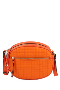 Quilted Oval Crossbody Bag