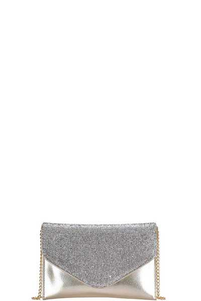 CHIC MULTI RHINESTONE ENVELOPE PARTY CLUTCH