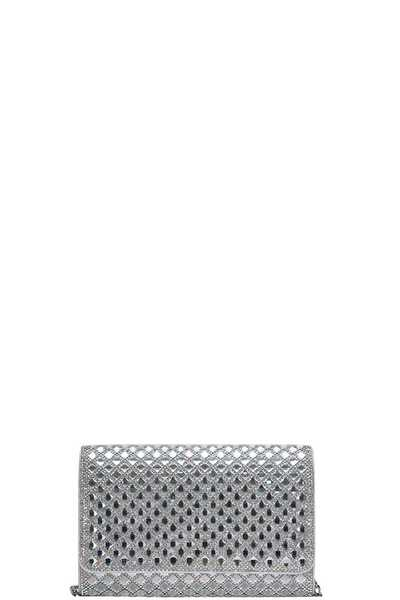 FASHION TRENDY MULTI RHINESTONE EVENING CLUTCH WITH CHAIN