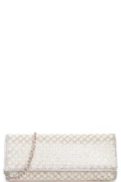 Trendy Multi Rhinestone Chic Party Clutch with Chain