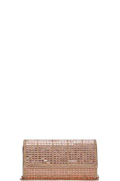 FASHION CUTE MIRROR MOSAIC PARTY CLUTCH WITH CHAIN