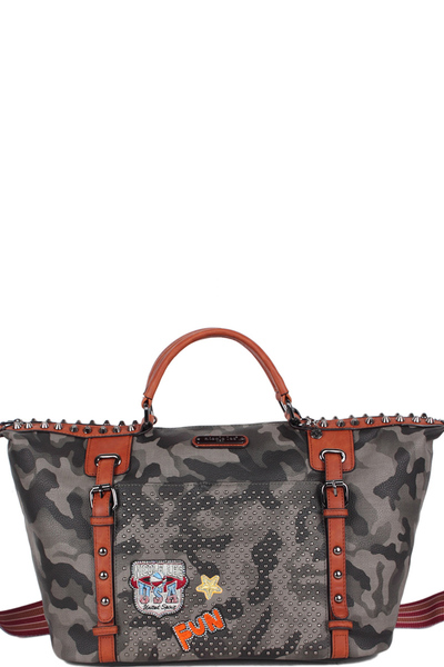 NICOLE LEE LAQUANNA PRINT MINI DUFFEL BAG