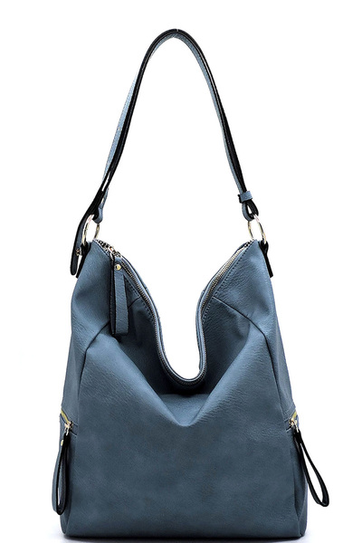 Fashion Side Zip Pocket Shoulder Bag Hobo