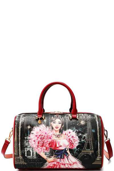 Nicole Lee CRYSTAL PALACE PRINT BOSTON BAG