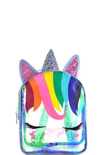 Trendy Cute Unicorn Hologram Tint Backpack
