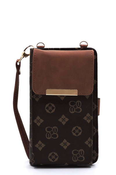 Monogram Bifold Wallet Crossbody Cell Phone Case