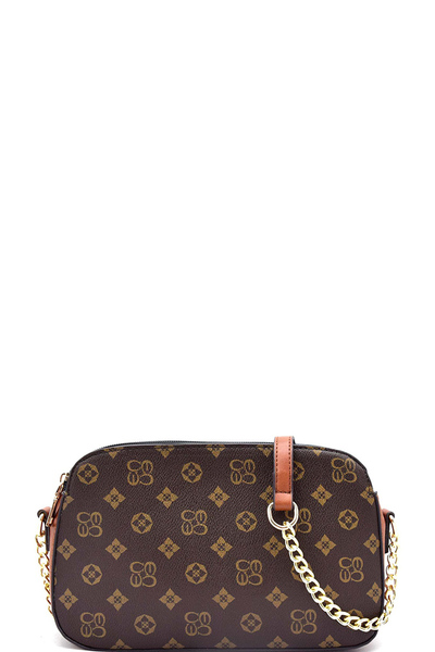 Classic Monogram Chain Strap Multi Compartment Bag
