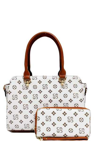 2IN1 ALBA CHIC LOGO SATCHEL WITH MATCHING WALLET